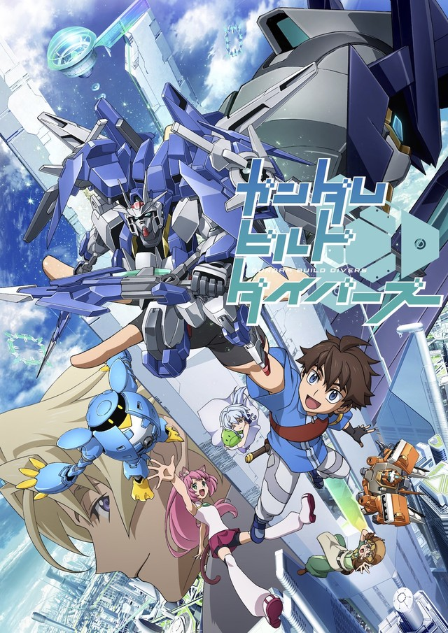 Битвы Ганпла Онлайн / Gundam Build Divers [Сезон 1, Серия 1-6 из 13+] 2018